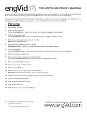 100 Common Job Interview Questions.pdf