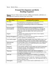 Module 2- Learning Guide Worksheet- Prenatal Development and Birth.docx