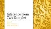 Inference from Two Samples