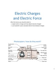Lecture01 ch21 ElectricForce
