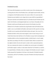 Essay on Background of Presidential Succession
