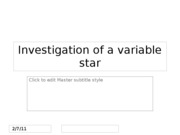 Investigation of a variable star