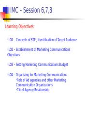 IMC - Session 6, 7, 8 - Planning and Organizing the IMC Process.ppt