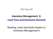 8B-inventory managment II - stochastic demand during lead time - 17Feb2014