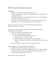 microbiology week 5 assignment 2 General microbiology lab manual mb 303 (homework assignment) week 3 mon oct 9 part 2: competencies and skills, microbiology.