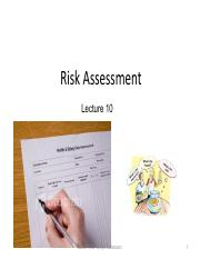 Lecture 10 Risk assessment.pdf