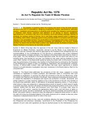 3. Republic Act 1378 (Plumbing Law of the Philippines).pdf