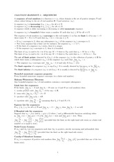 Handout 1 on Sequences of Real Numbers