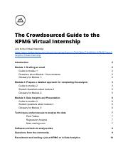 The Crowdsourced Guide to the KPMG Virtual Internship pdf