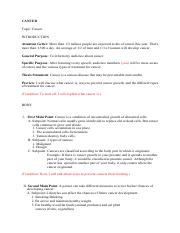 Informative speech_Sample Outline (cancer).pdf