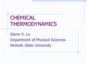 03 Chemical Thermodynamics, revised 1-29-13