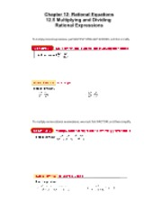 12.5 Multiplying and Dividing Rational Expressions