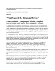 20110127-Final Report on What Caused Financial Crisis
