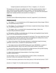 CS 1400 Test 1 - Chapters 1, 9, 10 & 11 - Sample Questions and Answers (1).docx