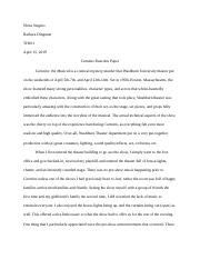 Curtains Reaction Paper