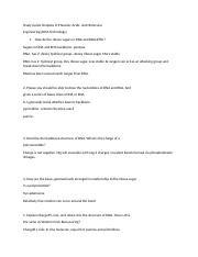 Biochemistry Study Guide Chapter 8-9