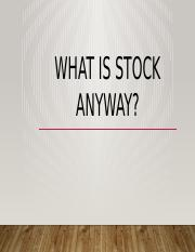 What is stock Anyway, Megan Shields.pptx