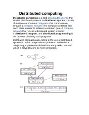 Distributed computing.docx