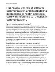 interpersonal interaction in health and social care
