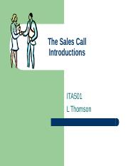 The Sales Call.ppt
