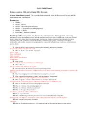 Test 1 Study Guide