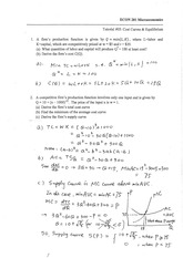 ECON 201 2014 S1-Tutorial 05-WK 6-Cost Curves & Equilibrium-A 2