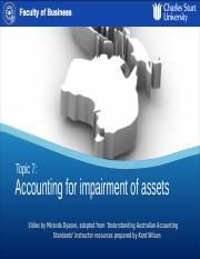Topic 7 Slides - Impairment of assets.pptx