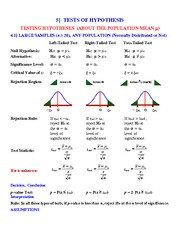 Study Guide on One Par Test Hypothesis