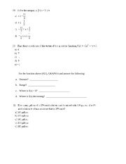 Practice Problems for Final Review
