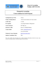 Course syllabus for Managerial Accounting(2008 IAEP)-3