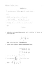 MATH 2120 Final Exam Review Worksheet Solutions