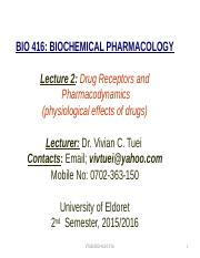 Lecture 1-introduction to pharmacology and pharmacokinetics