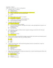 Assignment Ch. 3 answers
