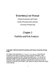Bloomberg User Manual Chapter Five