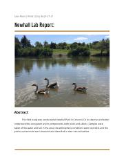Newhall Park Lab Report