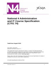 CfE_CourseSpec_N4_SocialStudies_AdministrationandIT