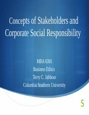Unit II Concepts of Stakeholders and Corporate Social   Responsibility.pptx