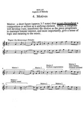 Aspects Of Melody - Motives - Notes