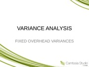VARIANCE ANALYSIS(ADDITIONAL SLIDES)
