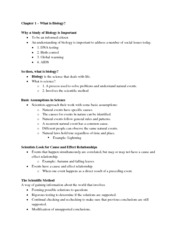 08-22-11 Biology Chapter One Notes