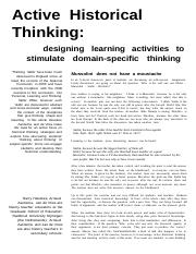 active historical thinking