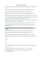 Linux 2 Chapter 12 Quiz 4 Review.docx
