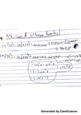PreCal Sum & Difference Formula Notes