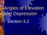 3.2 Angles of Elevation and Depression