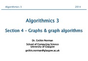 Algorithmics 3 Section 4 Notes (Graphs and Graph Algorithms)