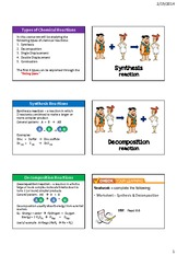 12. Synthesis & Decomposition