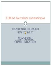 COM263 Nonverbal Communication.ppt