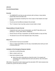 ATR 272 CPR General Notes
