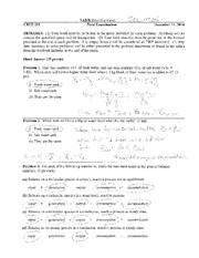 Final Exam 14 Solutions