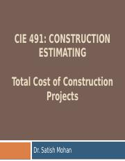 Total Cost of Engineering Projects(S16)